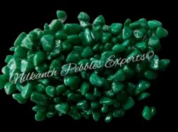 Tumbled Polished Dark Green Stone chips, For Garden And Decoration