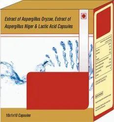 Extract Of Aspergillus Orzyzae, Extract Of Aspergillus Niger & Lactic Acid Capsules