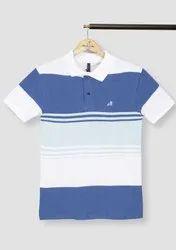 Round Half Sleeve Men Cotton T-Shirt, Size: Medium