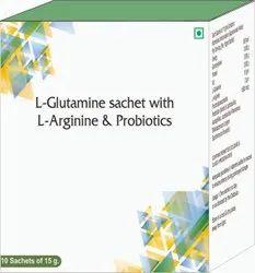 L-Glutamine Sachet With L-Arginine & Probiotics