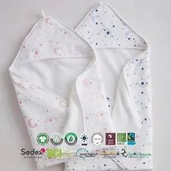 Organic Cotton Baby Hooded Towel