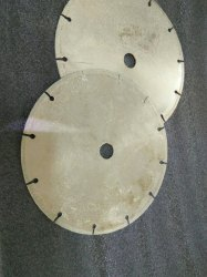Silver Steel Electroplated 8 inch Diamond Segmented Cutter, 150 Degree, Nickel