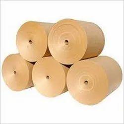 Plain Brown Corrugated Kraft Paper Roll, GSM: 120 - 150 GSM