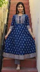Blue Formal Fancy Designer Anarkali Suit, For Party Wear