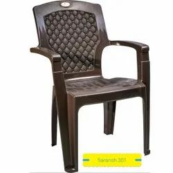 Saransh Brown Regular Plastic Chair