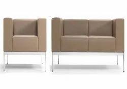Cream Three Seater Office Sofa Set