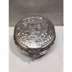 White Metal Jewellery Box For Corporate Gifts