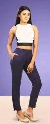 Plain 30 Colours Available Comfort Lady Cotton Pants