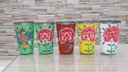 Drinkware Glossy Hand Painted Glass