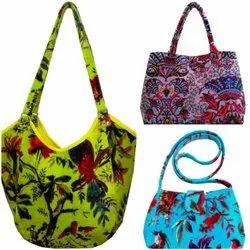 LUCKY HANDICRAFT Shoulder Bag VELVET BAGS, For Casual Wear