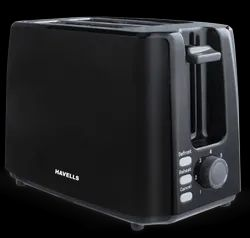 Stainless Steel White and Black Havells CRISP PLUS 2 Toaster, For Home