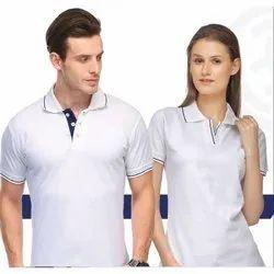 Lycra Cotton Stylish White Polo T-Shirt, Age Group: Mens