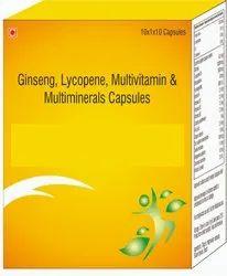 Ginseng, Lycopene, Multivitamin & Multiminerals Capsules
