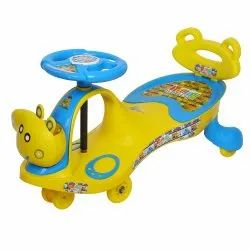 Young Wheel Blue Swing Car With Back Support