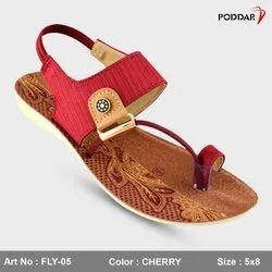 Multi Color Flats & Sandals Ladies Sandal, For Footwear