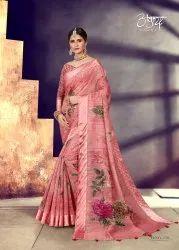 Cotton Silk Digital Printed Saree
