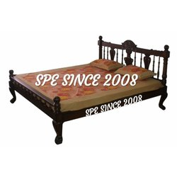 Brown Wooden Cot Bed