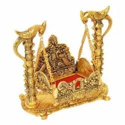 Gold Plated Laddu Gopal Jhulla ,Krishna Swing For Home Temple & Corporate Gifts