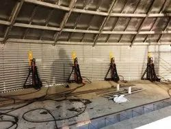 Telescopic Jacks for Bolted Tank Erection