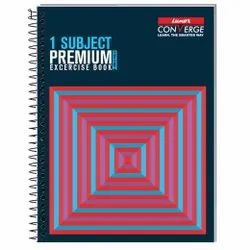 Luxor Spiral Hard Bound Note Book 5 Subject, For School