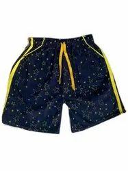 Navy Blue Boys Printed Cotton Lycra Shorts, Size: 28.0