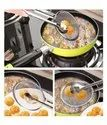 Stainless Steel Snack Fryer,Filter Spoon with Clip