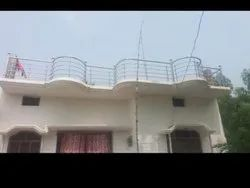 Silver Panel Stainless Steel Balcony Railing, For Home