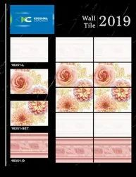 Tils Light Pink 12x18 Glossy Tiles, Thickness: 9 - 12mm, Size/Dimension: 300 x 450mm