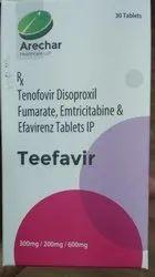 Teefavir (Tenofovir Disoproxil Fumarate, Emtricitabine & Efavirenz) (300,200,600mg)