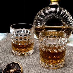 Glass Whisky Glasses Set, Set Of 6, 265 Ml Each (AB-SQ)