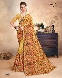 Designer Kashmiri Work Saree