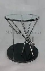 Round Metal Table, Size: 16 X 16 X 20 Inch