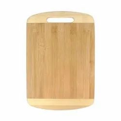 Non- Slip Bamboo Wooden Chopping Board With Wooden Handle 20x30 Cm