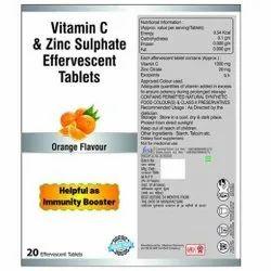 Vitamin C & Zinc Sulphate Effervescent Tablets