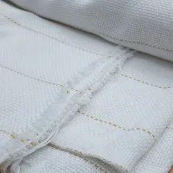 Basket Weave Yellow Line Monks Cloth