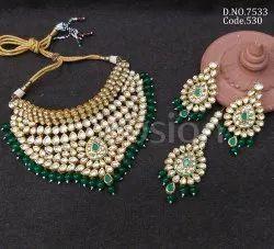 Fusion Arts Wedding Kundan Choker Necklace Set