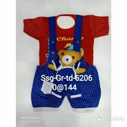 Red With Sky Kids Boys Jumpsuit
