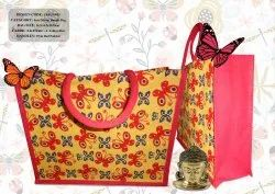 Loop Handle Jute Shopping Bag