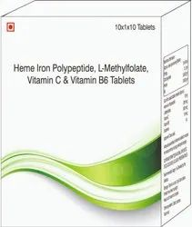 Heme Iron Polypeptide, L-methylfolate, Vitamin C & Vitamin B6 Tablets