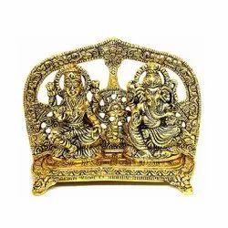 Gold Plated Laxmi Ganesh Chowki Diwali Pooja & Corporate Gift