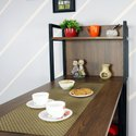 Folding Storage Dining Table With 4 Shelves, Space Saving Kitchen Rack
