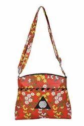 Leatherette Printed Ladies Handbag