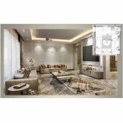 Drawing Room Interior Designing, Work Provided: Wood Work & Furniture