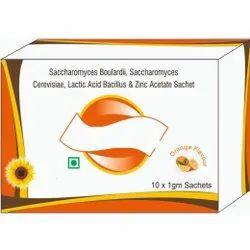 Saccharomyces Boulardii, Saccharomyces Cerevisiae, Lactic Acid Bacillus & Zinc Acetate Sachet