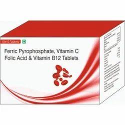 Ferric Pyrophosphate, Vitamin C Folic Acid & Vitamin B12 Tablets