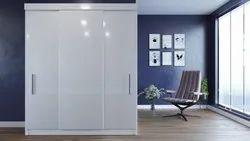 Wallter Systems Laminate + MR Plywood Sliding Wardrobe, For Bedroom