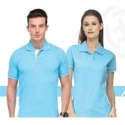 Blue Fancy Polo T Shirt
