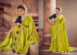 Party Wear Embroidered Kimora Kajal Vol 6 Silk Sarees, With Blouse Piece, 6.5 Meter