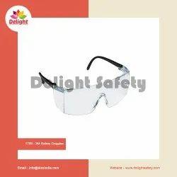 White Polycarbonate 3M 1709 Safety Goggles, Lens Type: Zero-power