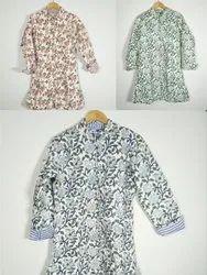 Wool Embroidery Long Kimono